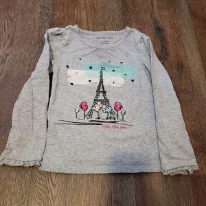 4/$25 Calvin Klein Jeans gray Eiffel Tower shirt